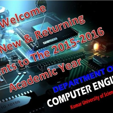 Welcome to the Academic Year 2015-2016